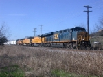 CSX 785, UP 690, UP 2310, UP 5026  25Feb2010  NB in SNEED